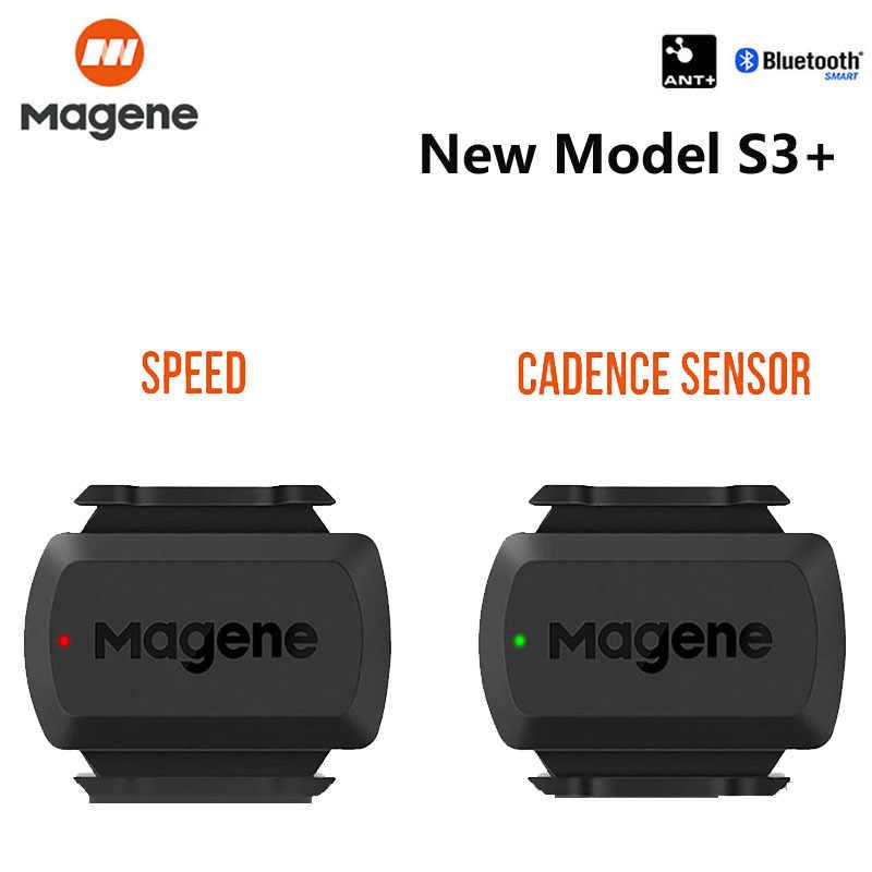 Magene S3 + スピードケイデンスセンサーant + bluetoothコンピュータスピードメータためstravaガーミンigpsport brytonデュアルセンサーバイクコンピュータ