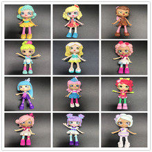 Miniature Shopping Fruit Dolls Action Figures for Family Kids Christmas Gift Playing Shops dolls Toys