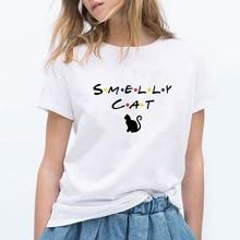 FRIENDS T Shirt Women Friend Tv Show Smelly Cat Printed Tshirt Summer Funny T-Shirt Female Top Tee