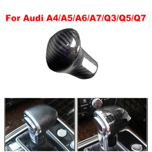 New Carbon Fiber Shift Knob Head Cover for Audi Old Models A4/A5/A6/A7/Q3/Q5/Q7 Gear Shifter Lever Stick цены