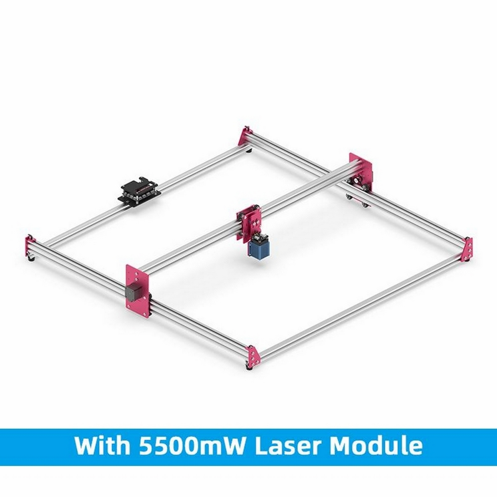 New 5500mw Laser CNC Engraving Machine Zoom GK1010 Pro 100cm X 100cm Wood Router PCB Plastic CNC Engrave Machine
