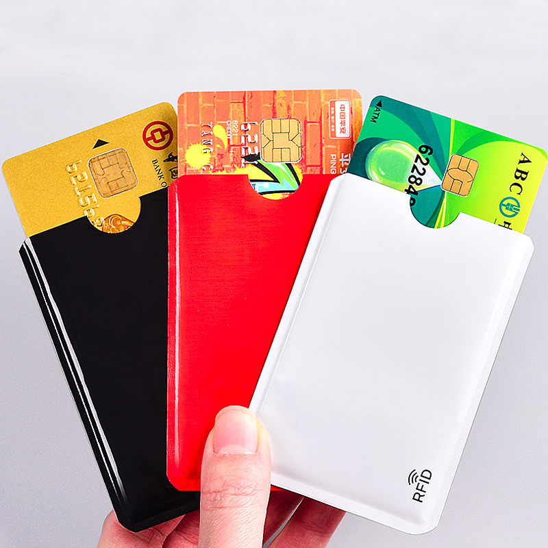 High Quality Anti Degaussing Theft Ultra Thin Bank Card Cover New Anti Rfid Blocking Reader Lock Card Holder ID Credit Card Case
