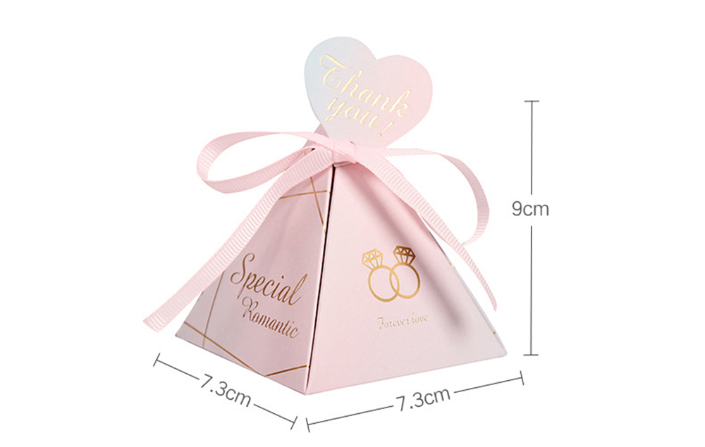Triangular Pyramid Marble Candy Box Wedding Favors and Gifts Boxes Chocolate Box for Guests Giveaways Boxes Party Supplies8