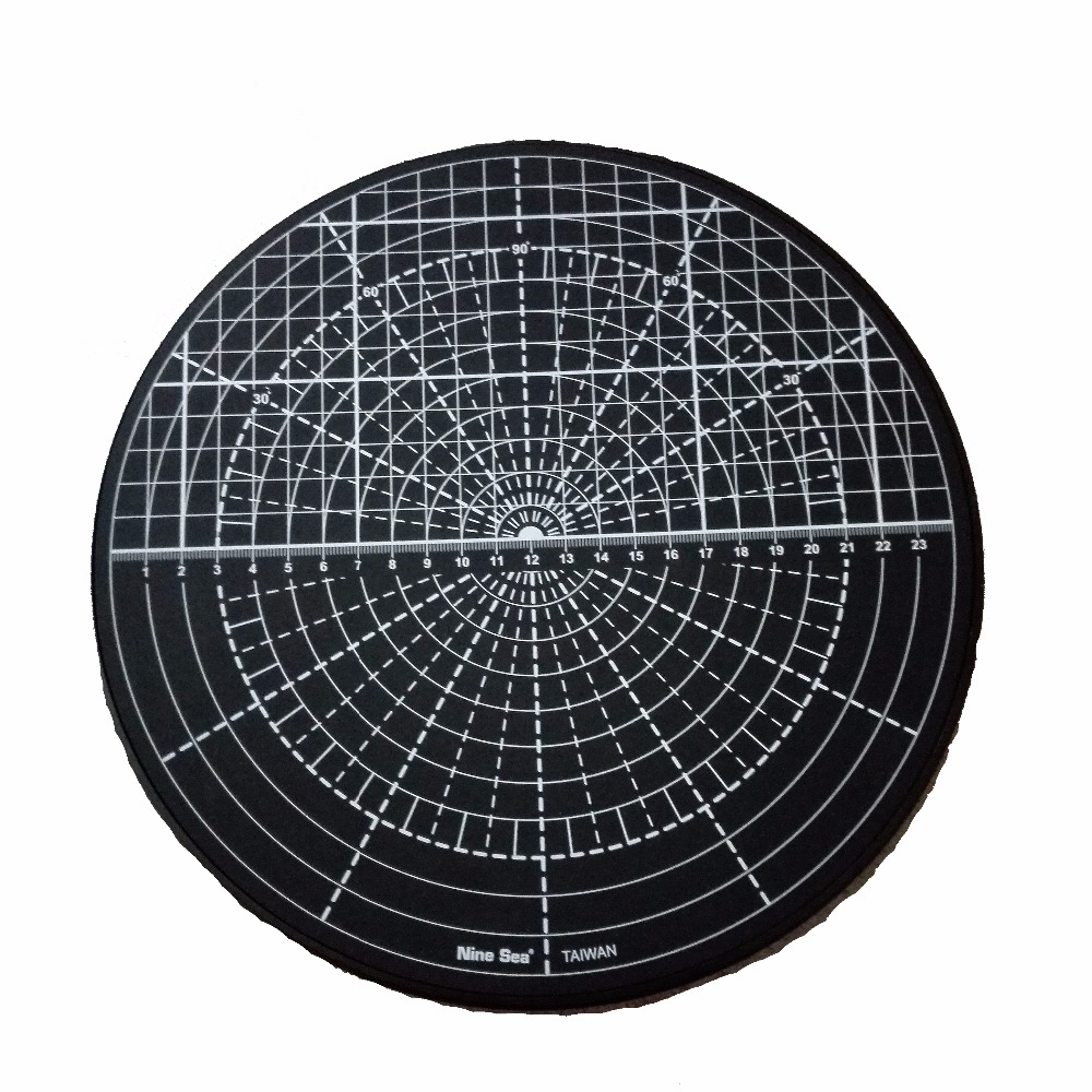 Self Healing Rotating Cutting Mat Multi-function Rotary Patented Rotating Disk Circle Cutting Plate Table (Random Color) No.509