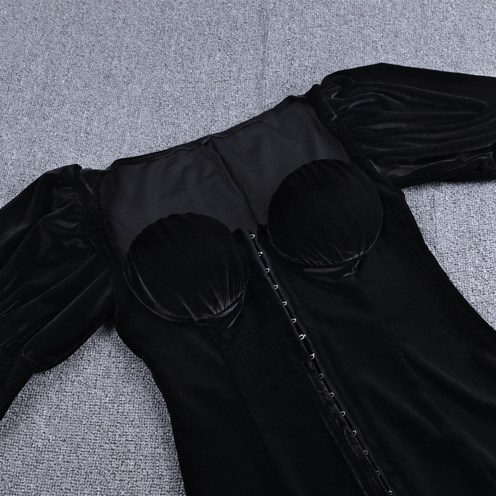 Женское платье с оленем винтажное облегающее длинным рукавом