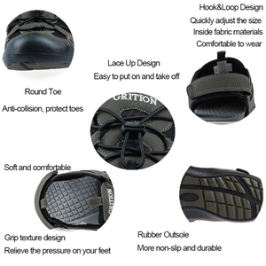 Image 5 - GRITION קיץ נעלי גברים חוף סנדלי כובע הבוהן זכר לסתום עיצוב באיכות מזדמן נוח אופנה נעלי ספורט גדול גודל 46 2020