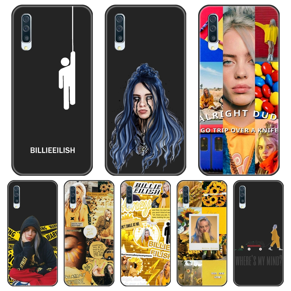 Case For Samsung Galaxy A10 A20 A30 A40 Case Silicone Billie Eilish Ocean Eyes Back Cover For Samsung A80 A70 A60 A50 Phone Case