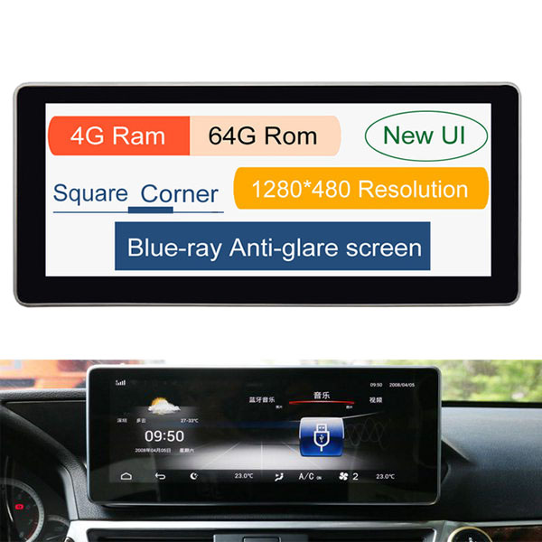 10.25 Inch Android 8.1 6G + 64G Car GPS Navigation <font><b>Multimedia</b></font> Player Bluetooth WiFi Display for <font><b>Mercedes</b></font> Benz E Class <font><b>W212</b></font> 2009- image
