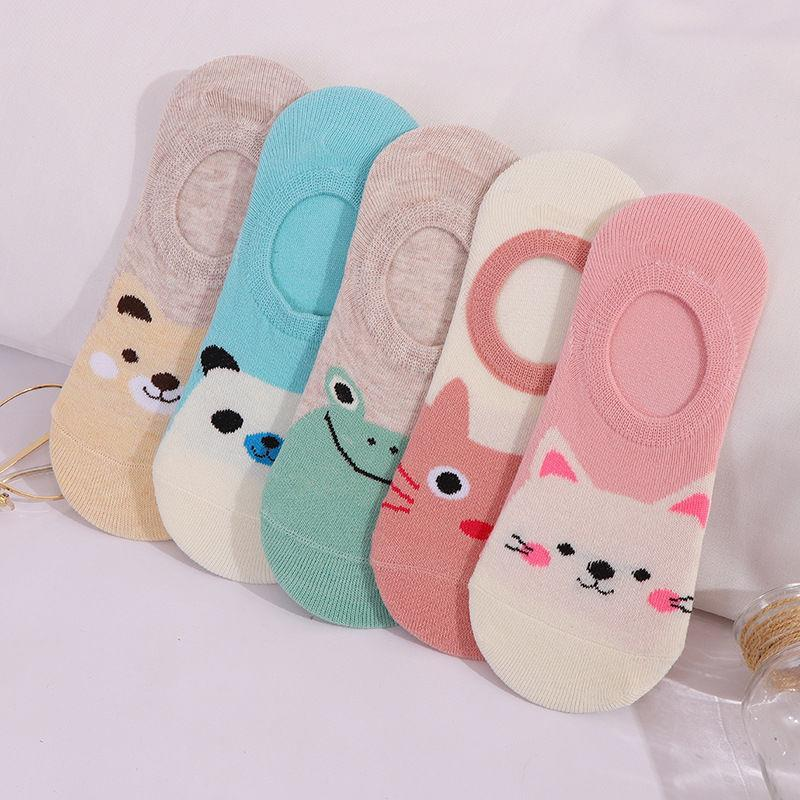 5 Pairs Cute Harajuku Women's Socks Set Cartoon Print Animal Panda Cat Pattern Meias Lolita Cotton Socks For Girls Autumn Sokken