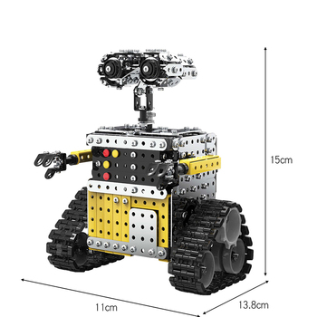 SW (RC) 009 DIY stainless steel assembly remote control WALL-E robot 728PCS interactive educational toy