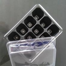 Прочные 12 ячеек отверстие кассеты для рассады семена растений коробка для выращивания поддоны для растений