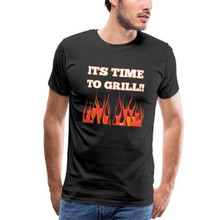 It's Time To Grill Shirt Funny Grill time T-Shirt Homme Digital Fire Print Tshirt Men Hipster Graphic Tees Femme Harajuku Tops