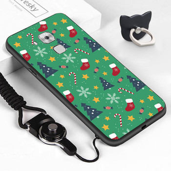 For Huawei NovaPlus Maimang5 G9plus Soft Shockproof Christmas Case Xmas Tree Santa Snowman Deer TPU Silicone Phone Cover Casing image