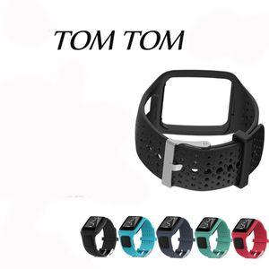 Image 1 - Bracelet pour TomTom 1 multi sport GPS HRM CSS AM Cardio coureur montre Silicone souple Bracelet Bracelet
