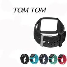 להקת עבור TomTom 1 רב ספורט GPS HRM CSS AM אירובי רץ שעון סיליקון רך רצועת צמיד צמיד