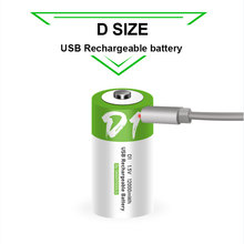 D גודל נטענת סוללה 1.5V 12000mWh USB טעינת סוללות ליתיום לבית מים דוד עם גז טבעי תנור