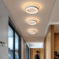 Lámpara de techo LED moderna para pasillo, pasillo, hogar, candelabro redondo en el balcón de la cocina, accesorio de iluminación para porche