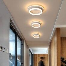 Moderno led teto lâmpada aérea para corredor casa redonda lustre na cozinha varanda luminária