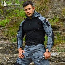 New Men's Long Sleeve Outdoor Riding Camouflage Suit Field Combat Training Suit