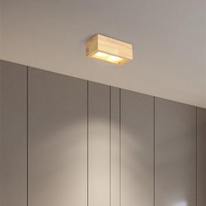 Image 3 - LED 통 표면 6W 천장 조명 Led 천장 Downlight 북유럽 철 + 나무 스포트 라이트 실내 로비, 거실
