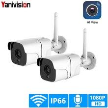 Câmera de vigilância residencial, sem fio, cctv sistema externo 1080p hd 2ch áudio wi fi ip, kit de vigilância, 2mp