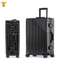 Maleta giratoria de aluminio con ruedas para hombre y niña, de 20 pulgadas bolso de viaje, para negocios, 24