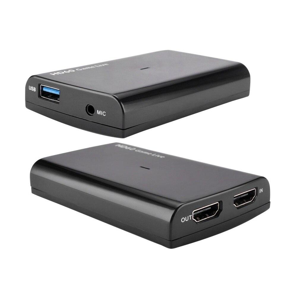 HDMI vers USB3.0 jeu vidéo Capture HD 1080p 60fps enregistrement pour PS4 Xbox One Nintendo Switch, Twitch FaceBook Youtube Live Stream 4K