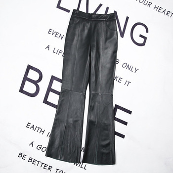 2020 Women Spring Genuine Real Sheep Leather Pants E42 2020 women spring genuine real sheep leather pants e54