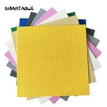 Plaque de Base intelligente 48x48 blocs de construction, jouet pour Pixel Art City Compatible grandes marques cadeau de noël 2 pièces/lot