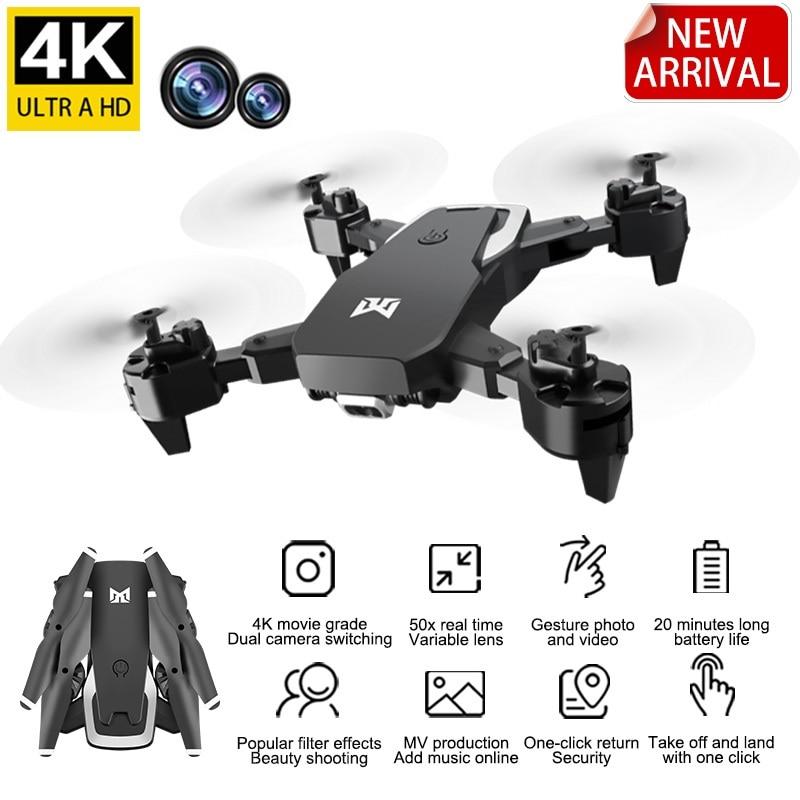 KK6 Remote Control Drone, 4K HD Dual Camera Folding, GPS Smart Follow, Long Battery Life, Quadrotor Children Toys