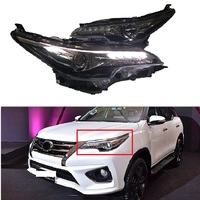 Car led Headlights EXTERIOR FRONT LAMPS Car Headlight LED Bulbs WITH LED TURN SIGNAL FOG LIGHTS fit for Fortuner 2015 2018