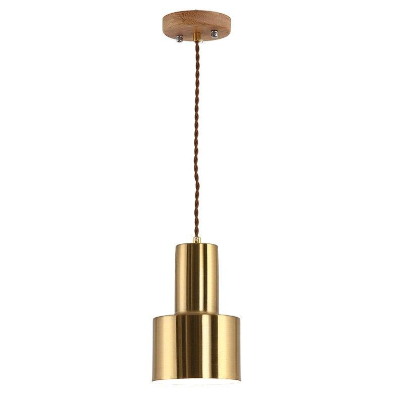 Danish Model Room Hall Chandelier Lighting Flashlight Hanging Lamp Nordic Window Bedside Lights Suspension Gold Light Fixtures