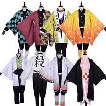 Kimetsu no Yaiba Kamado Tanjirou Nezuko  Agatsuma Zenitsu Kochou Shinobu Sabito Shinazugawa Sanemi Cosplay Costume Halloween Cos