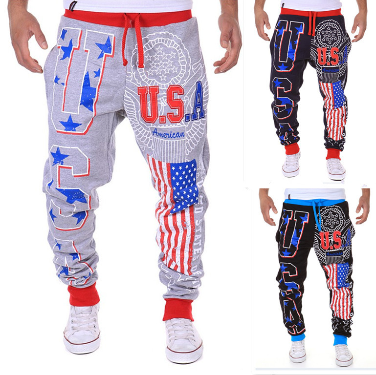 Hot Sales Hot Selling Men Casual Athletic Pants Printed Letter 1413-k06
