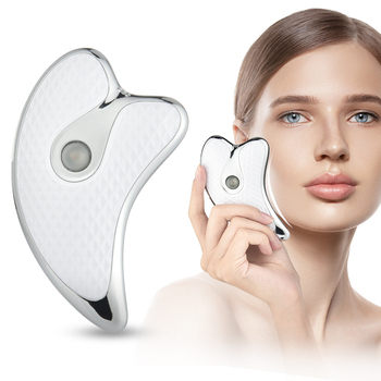 Facial Massager Micro Electric Scraping Plate LED Light Heating function Facial Lift Massage Vibrating skin care tool fast ship