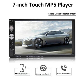 Car Multimedia Player Autoradio 2din Stereo Touch Screen Video MP5 Player Auto Radio Backup Camera 7 '' 2DIN Universal Car image