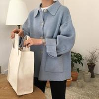 2019 Women Autumn Winter Tops Retro Loose Sweater Female Shcool Plus Size Pocket Knitting Cardigan Coat Sueter Mujer