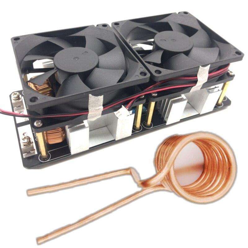 2000w 50a zvs placa de aquecimento por indução baixa tensão módulo alimentação flyback driver aquecedor aquecedores bobina tesla