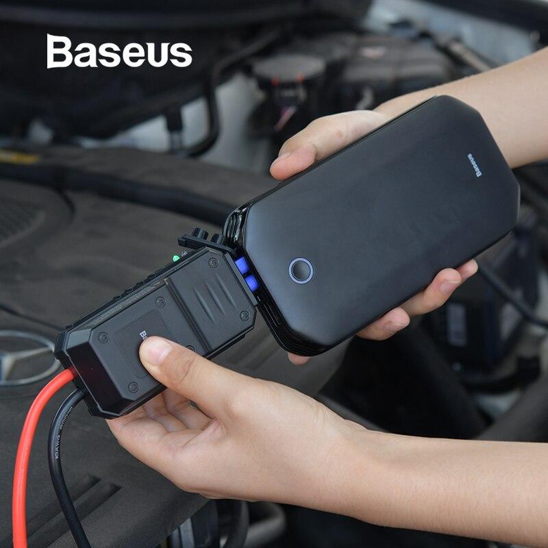 Baseus רכב קפיצת Starter סוללה כוח בנק נייד 12V 800A רכב חירום סוללה בוסטרים עבור 4.0L רכב כוח Starter