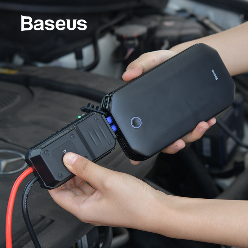 Baseus 車ジャンプスターターバッテリー電源銀行ポータブル 12V 800A 車両緊急バッテリーブースター 4.0L 車の電源スターター