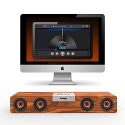 Tws Draadloze Houten Bluetooth Speaker Soundbar Desktop Speaker Ondersteuning Tf Card Aux Handsfree Audio Voor Boekenplank Telefoon Thuis Pc