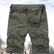 Demi-pantalon de sport tactique pour homme, bermuda de marque à séchage rapide, style militaire, pour randonnée, pêche, chasse, plein air, été