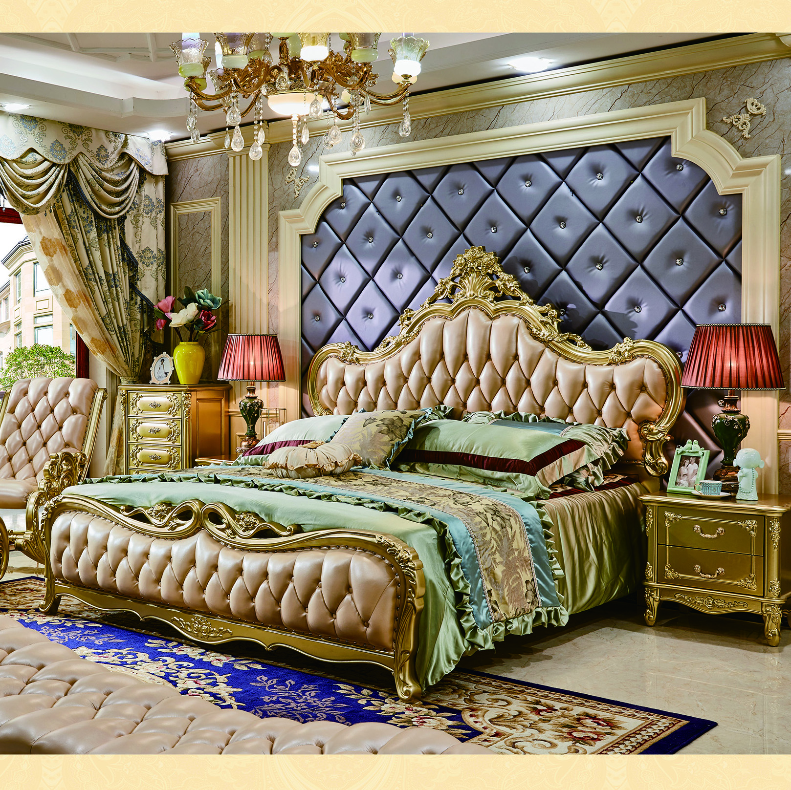 Classic Luxury Carve Design Leather Bed King Size For Sale Beds Aliexpress