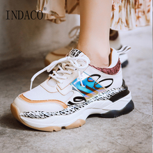 Women Sneakers Fashion Shoes Leather Trainers Platform 5.5m