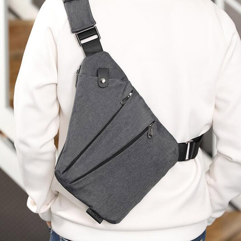 Men's Messenger Bag Oxford Burglar Wearable Bag Multifunctional Solid Durable Outing YS-BUY