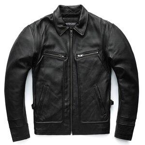 Image 5 - MAPLESTEED marka Amekaji silnika w motocyklowym stylu mężczyzn skórzana kurtka czarny czerwony brązowy skóry wołowej kurtki Vintage mężczyźni płaszcz zimowy 5XL M100