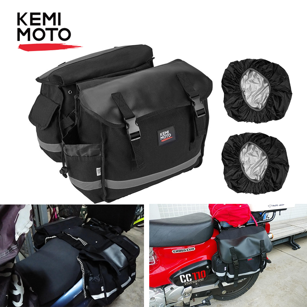 KEMiMOTO Motorcycle Saddle Bag Kit Knight Rider Motorcycle Bag For Sportster for BMW For Kawasaki Vulcan for Ducati bags for harley - title=