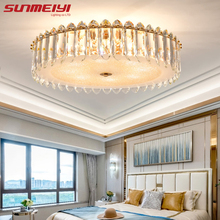 Modern Led Ceiling Lights Hanging Lamp For Living room Kitchen Luxury Crystal Gold Bedroom decor plafonnier led