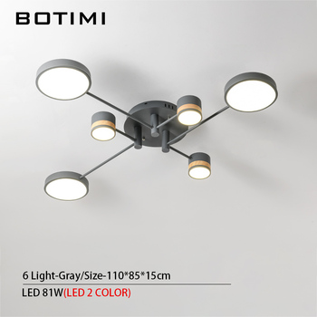 BOTIMI Home Decor LED Ceiling Lights For Living Room Round Metal Ceiling Lamps Surface Mounted Dining Lustres Bedroom luminaires 9