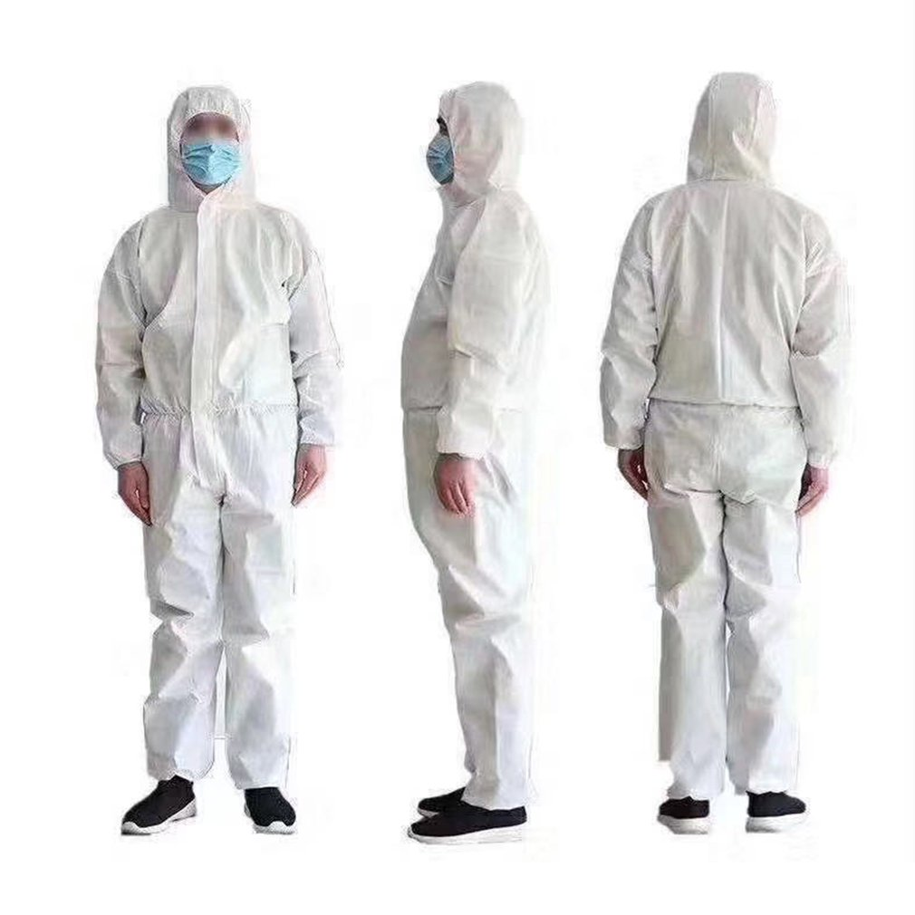 Disposable Anti-epidemic Antibacterial Plastic Closures Isolation Suit Protective Clothing Dust-proof Coveralls For Tattoo